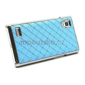 Drahokamové puzdro pre LG Optimus L9 P760- svetlo modré - 5