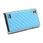 Drahokamové puzdro pre LG Optimus L9 P760- svetlo modré - 5/7