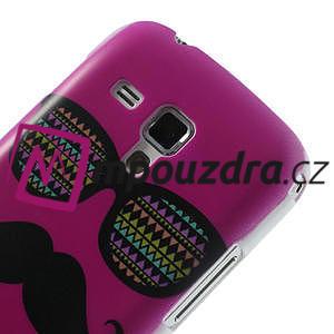 Plastové puzdro na Samsung Trend plus, S duos - růžové kníraté - 5