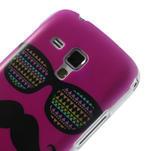 Plastové puzdro na Samsung Trend plus, S duos - růžové kníraté - 5/6