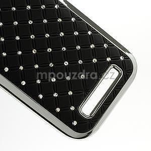 Drahokamové puzdro pre HTC One SV- čierné - 5