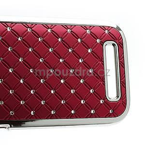 Drahokamové puzdro pre HTC One SV- červené - 5