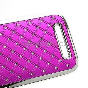 Drahokamové puzdro pre HTC One SV- růžové - 5
