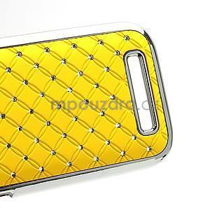Drahokamové puzdro pre HTC One SV- žlté - 5
