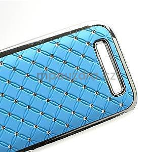 Drahokamové puzdro pre HTC One SV- svetlo modré - 5