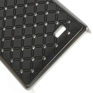 Drahokamové puzdro na Nokia X dual- čierné - 5