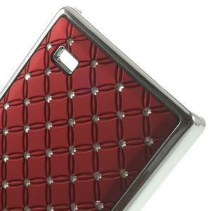 Drahokamové puzdro na Nokia X dual- červené - 5