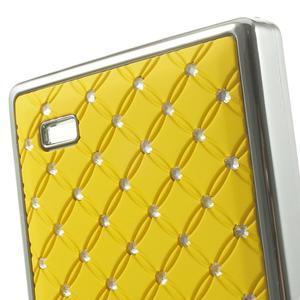 Drahokamové puzdro na Nokia X dual- žlté - 5