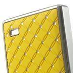 Drahokamové puzdro na Nokia X dual- žlté - 5/5