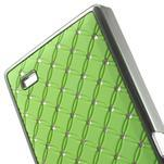 Drahokamové puzdro na Nokia X dual- zelené - 5/5