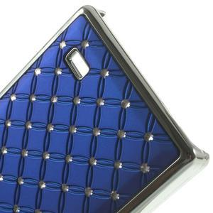 Drahokamové puzdro na Nokia X dual- modré - 5