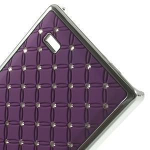 Drahokamové puzdro na Nokia X dual- fialové - 5