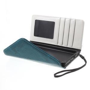 Luxusní peněženkové pouzdro na Huawei P8 Lite - bílé / modré - 5