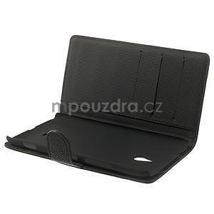 Peňaženkové puzdro pre Nokia Lumia 1320- čierné - 5