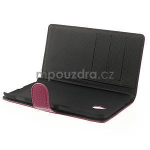 Peňaženkové puzdro pre Nokia Lumia 1320- ružové - 5