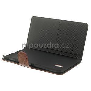 Peňaženkové puzdro pre Nokia Lumia 1320- hnedé - 5