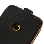 Flipové čierné puzdro na Nokia Lumia 520 - 5/7