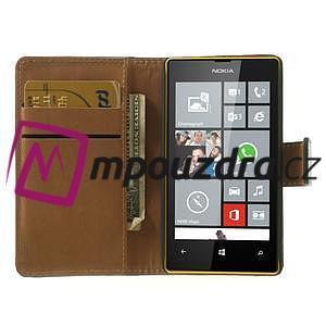 Peňaženkové puzdro na Nokia Lumia 520 - čierné - 5