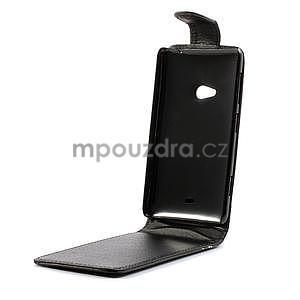 Flipové puzdro pre Nokia Lumia 625- čierné - 5
