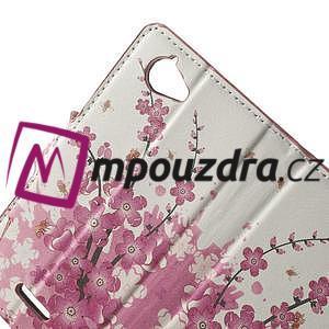 Peňaženkové puzdro na Sony Xperia L C2105- kvetoucí větvička - 5
