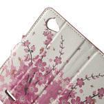 Peňaženkové puzdro na Sony Xperia L C2105- kvetoucí větvička - 5/7