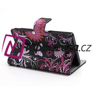 Peňaženkové puzdro pre Sony Xperia Z C6603 - motýľe - 5