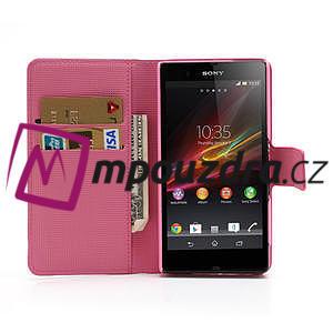 Peňaženkové puzdro pre Sony Xperia Z C6603 - farební motýľe - 5