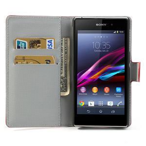 Peňaženkové puzdro pre Sony Xperia Z1 C6903 L39- USA vlajka - 5