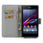 Peněženkové pouzdro na Sony Xperia Z1 C6903 L39- barevné květy - 5/7