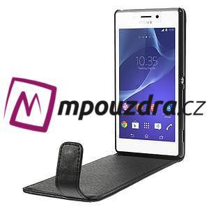 Flipové puzdro pre Sony Xperia M2 D2302 - čierné - 5