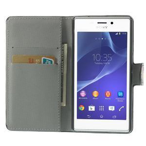 Peňaženkové puzdro na Sony Xperia M2 D2302- vzorové - 5
