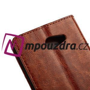 Peňaženkové kožené puzdro na Sony Xperia M2 D2302 - hnedé - 5