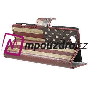Peňaženkové puzdro pre Sony Xperia Z1 Compact D5503 - USA vlajka - 5