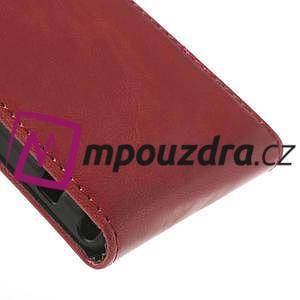 Flipové pouzdro na Sony Xperia Z1 Compact D5503 - červené - 5