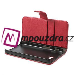 Peňaženkové puzdro na LG Optimus L9 II D605 - červené - 5