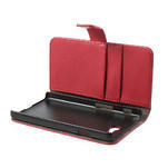 Peňaženkové puzdro na LG Optimus L9 II D605 - červené - 5/7
