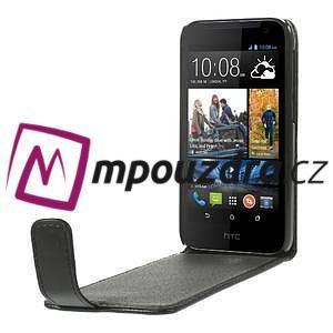Flipové Cover kožené puzdro pre HTC Desire 310- čierné - 5