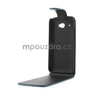 Flipové puzdro pre HTC Desire 601- modré - 5