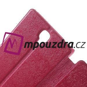 Peňaženkové puzdro na Xiaomi Hongmi Note- růžové - 5