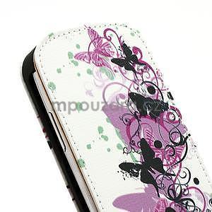 Flipové kožené puzdro pre Samsung Galaxy S3 mini / i8190 - motýlek - 5
