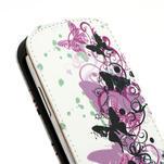 Flipové kožené puzdro pre Samsung Galaxy S3 mini / i8190 - motýlek - 5/6