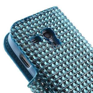 Modré puzdro pre Samsung Galaxy S3 mini / i8190 - kamínkové - 5