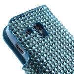 Modré puzdro pre Samsung Galaxy S3 mini / i8190 - kamínkové - 5/5