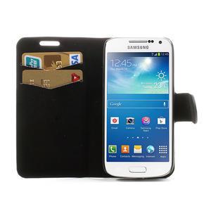 Peňaženkové  puzdro na Samsung Galaxy S4 mini i9190- puntíkaté čierné - 5