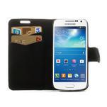 Peňaženkové  puzdro na Samsung Galaxy S4 mini i9190- puntíkaté čierné - 5/7