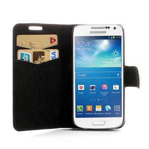 Peňaženkové puzdro na Samsung Galaxy S4 mini i9190- puntíkaté biele - 5