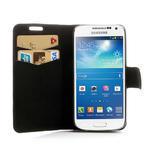 Peňaženkové puzdro na Samsung Galaxy S4 mini i9190- puntíkaté biele - 5/7