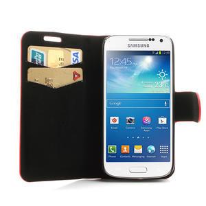 Peňaženkové puzdro na Samsung Galaxy S4 mini i9190- puntíkaté červené - 5