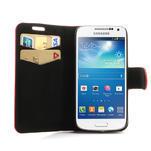 Peňaženkové puzdro na Samsung Galaxy S4 mini i9190- puntíkaté červené - 5/7
