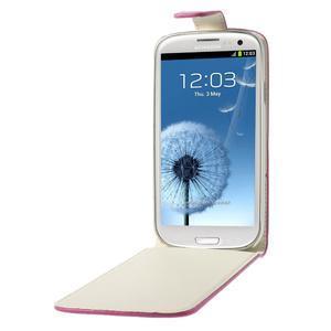 Flipové pozdro pre Samsung Galaxy S3 i9300 - ružová - 5